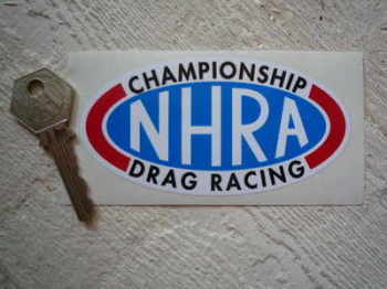 "NHRA Championship Drag Racing Black Text Sticker. 4""."