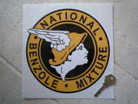 National Benzole Mixture Round Sticker. 6