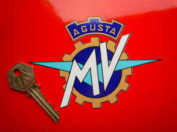 "MV Agusta Full Colour Cut To Shape Stickers. 4"", 5"" or 7"" Pair."