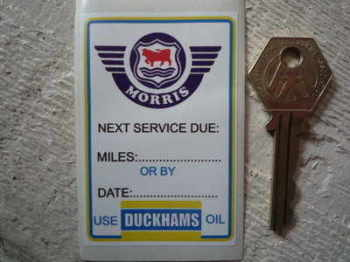 "Morris 'Use Duckhams Oil' Service Sticker. 3""."
