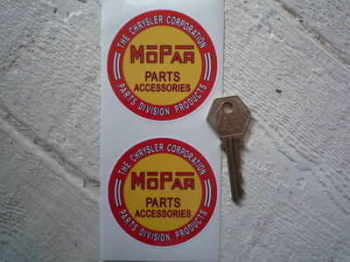 "Mopar Parts & Accessories Chrysler Stickers. 2.25"" or 2.75"" Pair."