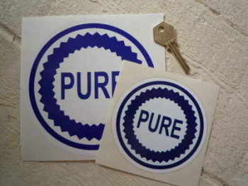 "Pure Blue & White Round Stickers. 4"", 5"", or 6"" Pair."