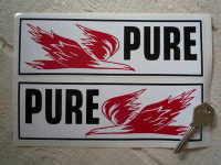 Pure Firebird Oblong Stickers. 8