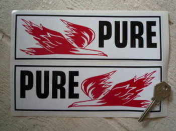 "Pure Firebird Oblong Stickers. 8"" Pair."