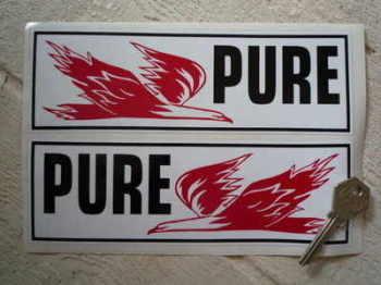 """Pure Firebird Oblong Stickers. 8"""" Pair."""