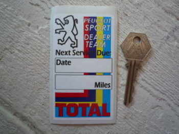 "Peugeot Sport Dealer Team & Total Service Sticker. 3.5""."