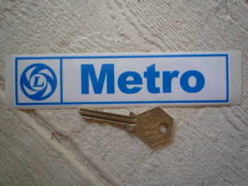 "Rover Metro British Leyland Sticker. 6""."