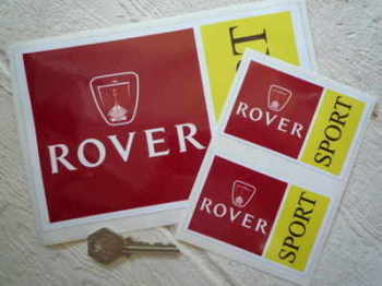 "Rover Sport Oblong Stickers. 3.5"" or 8"" Pair."