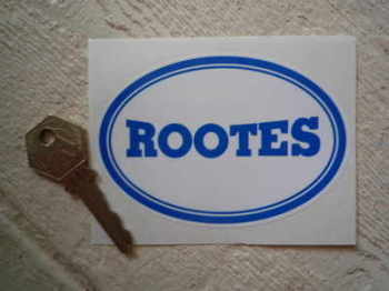 "Rootes Blue & White Oval Sticker. 4""."