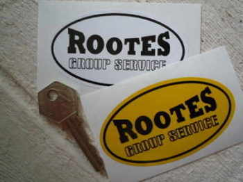 "Rootes Group Service Oval Sticker. 3.5""."