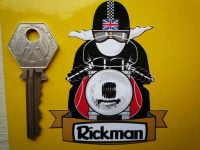 Rickman Pudding Basin Helmet Cafe Racer Sticker. 3