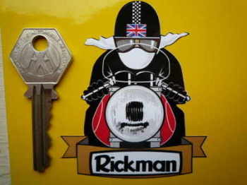 "Rickman Pudding Basin Helmet Cafe Racer Sticker. 3""."