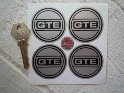 Reliant GTE Wheel Centre Style Stickers. Set of 4. 40mm, 50mm, or 54mm.