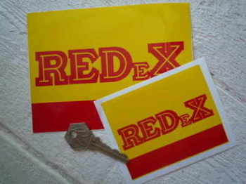 "REDeX Red &Yellow Oblong Stickers. 4"" or 6"" Pair."