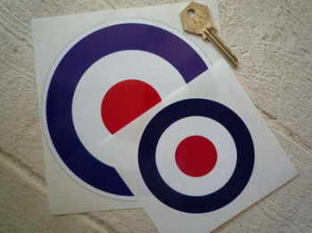 "RAF Roundel Stickers. 4"" or 6"" Pair."
