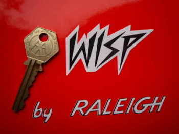 Raleigh 'Wisp by Raleigh' Stickers. Pair.
