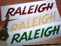 Raleigh Cut Text Stickers. 4.5