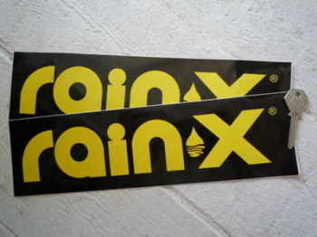 "Rain X Oblong Stickers. 12"" Pair."