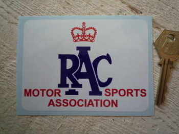 "RAC Motor Sports Association Sticker. 4""."