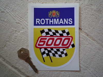 "Rothmans Formula 5000 Sticker. 5.5""."