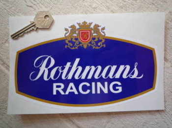 "Rothmans Racing Sticker. 8"", 10"" or 12""."