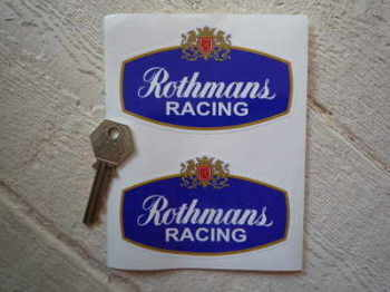 "Rothmans Racing Stickers. 4"" or 6"" Pair."