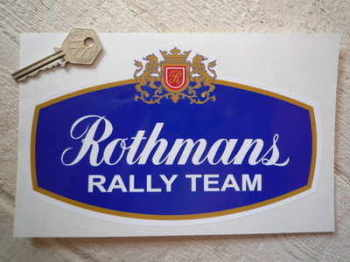 "Rothmans Rally Team Sticker. 8"", 10"", or 12""."