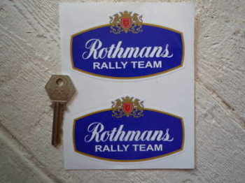 "Rothmans Rally Team Stickers. 4"" Pair."