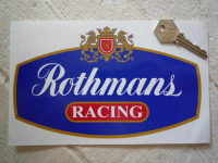 Rothmans Red Racing with Gold Outline Sticker. 6