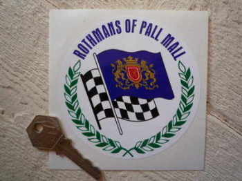 "Rothmans of Pall Mall Round Sticker. 4""."