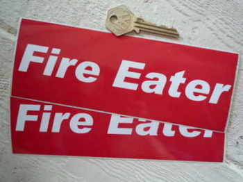 "Fire Eater Oblong Stickers. 7.5"" Pair."