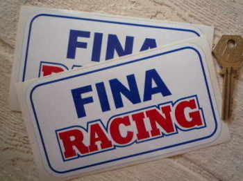 "Fina Racing Oblong Stickers. 5"" Pair."