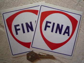 "Fina Shield Square Stickers. 4"" or 5"" Pair."