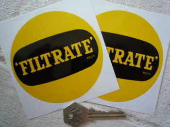 "Filtrate Round Stickers. 3.5"" Pair."