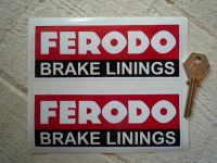 Ferodo 'Brake Linings' Style 8 Oblong Stickers. 5.5