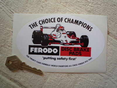 Ferodo 'The Choice of Champions' Oval Picture Sticker. 6
