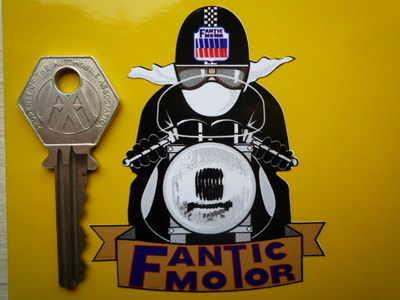 "Fantic Motor Pudding Basin Helmet Cafe Racer Sticker. 3""."