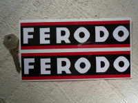 """Ferodo Narrow Style Oblong Stickers. 7"""" Pair."""