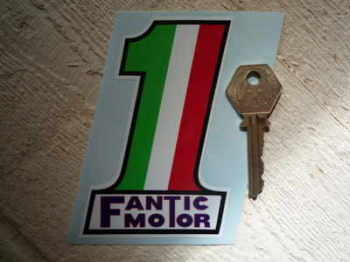 "Fantic Motor No.1 Sticker. 4""."