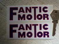 Fantic Motor Oblong Stickers. 4