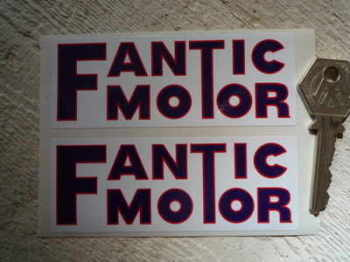 "Fantic Motor Oblong Stickers. 4"" Pair."