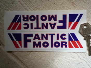 "Fantic Motor Slanted Oblong Stickers. 6"" Pair."