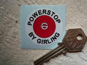 "Girling Powerstop Servo Sticker. 1.5""."