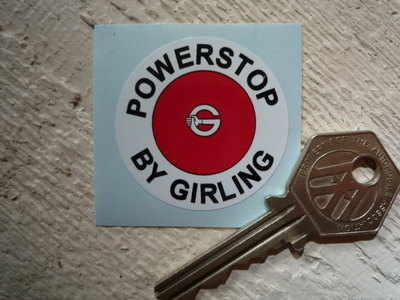 Girling Powerstop Servo Sticker. 1.5