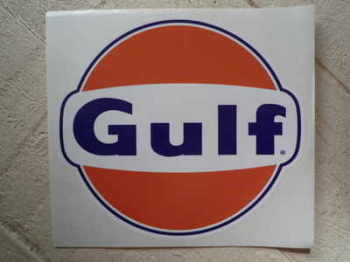 Gulf Logo Large Sticker. Various Sizes.