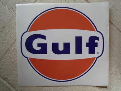 Gulf Logo Large Sticker. Various Sizes.