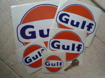 Gulf Logo Stickers Pair. Various Sizes. 40mm - 100mm.