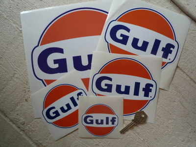 Gulf Logo Stickers Pair. Various Sizes.