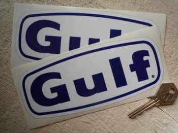 "Gulf Text Stickers. 6.5"" Pair."