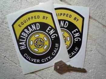 "Halibrand Eng. Equipped By Stickers. 4.5"" or 6.5"" Pair."